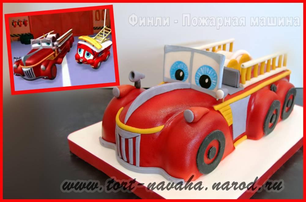 Торт с пожарником картинки