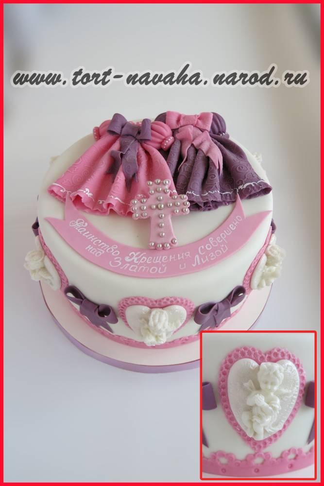 Торт для двойни на крестины фото